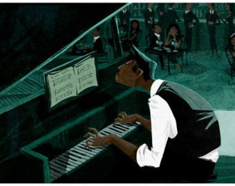 cartoon pianist